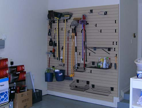 Garage Storage Overhead SystemsPhoto Gallery Slat Wall Houston Dallas Fort Worth San Antonio Seattle Portland Francisco Bay Area